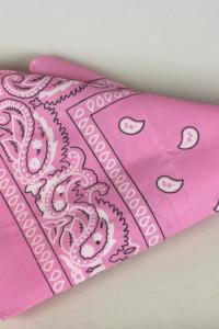 Różowa bandana pudrowy róż lata 90...