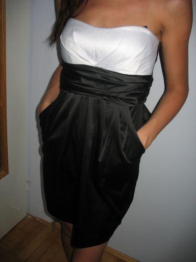 Suknie i sukienki Czarna obcisła gorsetowa sukienka XS 34 S 36