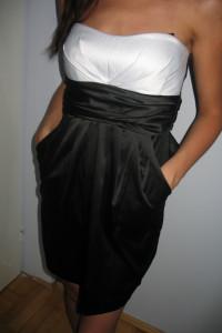 Czarna obcisła gorsetowa sukienka XS 34 S 36...