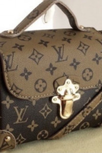 Louis Vuitton Rivets replika monogram eko skóra...