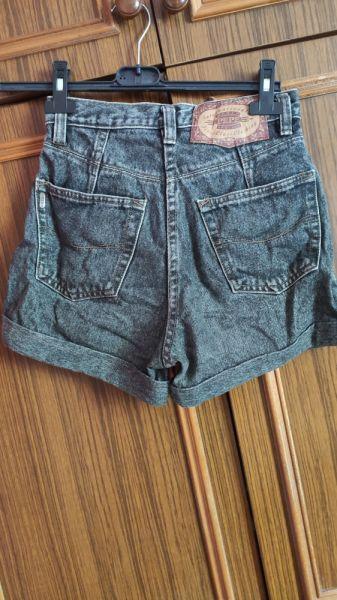 Spodenki szare jeansowe spodenki krótkie szorty damskie