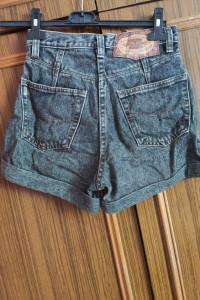 szare jeansowe spodenki krótkie szorty damskie...
