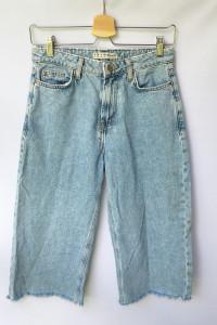 Spodnie 7 8 Dzinsowe Jeansy Denim Co Postrzępione S 36...