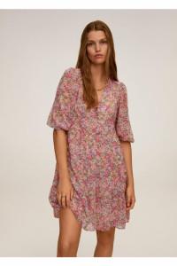 Mango piękna szyfonowa sukienka w kwiaty PRARIE6...