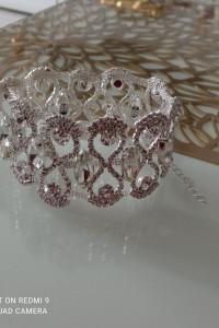 Kryształowa bransoletka slub wesele...