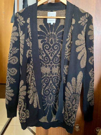 Swetry Sweter czarny złoty Medicine S 36 kardigan