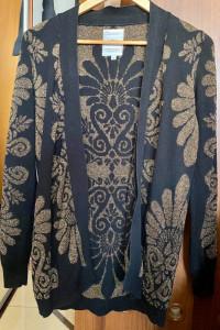 Sweter czarny złoty Medicine S 36 kardigan...