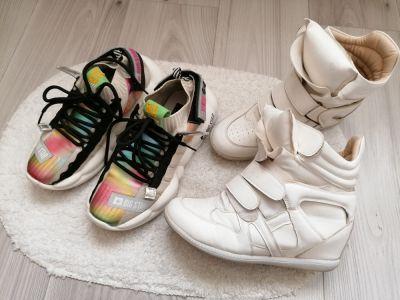 Sportowe Sneakersy sportowe Big Star i Gratis białe r38 245