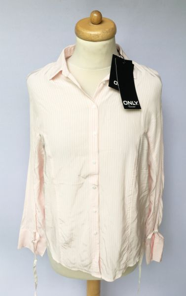 Koszule Koszula Paski Only NOWA Różowa Róż S 36 Elegancka Paseczki