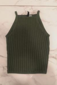 Zielona bluzka H&M...