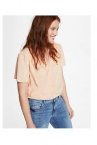Nowa bluzka Mango top XXL 44 XXXL 3XL 46 łososiowa cielista lek...