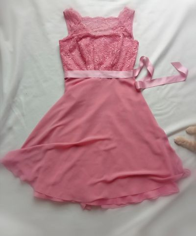Suknie i sukienki Zwiewna sukienka z koronką tiulem kokardą koktajlowa princesska jak lou ślub