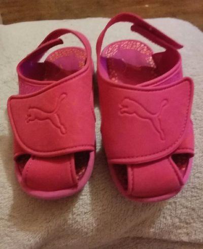 Obuwie Sandałki różowe dziewczęce sportowe rozmiar 24 oryginalne puma