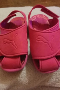 Sandałki różowe dziewczęce sportowe rozmiar 24 oryginalne puma