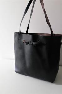 Czarna torebka H&M shopper bag...