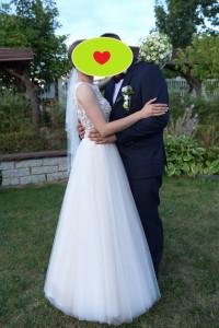 Suknia ślubna Laurena 34 36 kolor ivory z brokatem kolekcja 2020