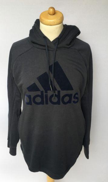 Bluzy Bluza Granatowa Adidas M 40 42 Kangurka Męska Kaptur