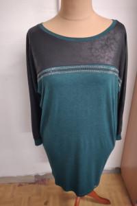 sukienka tunika w kolorze ciemnozielonym rozmiar uniwersalny...