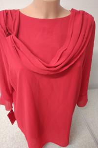 bluzka czerwona z ozdobnym wiązaniem z przodu rozmiar L i 5XL...