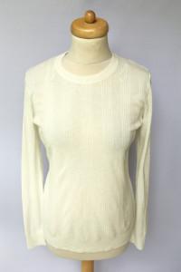 Sweter Biały Lindex M 38 Prążkowany Biel Prążki...