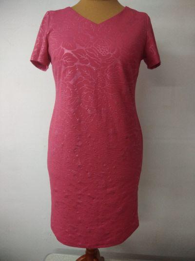 Suknie i sukienki różowa sukienka wizytowa rozmiar 46
