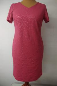 różowa sukienka wizytowa rozmiar 46...