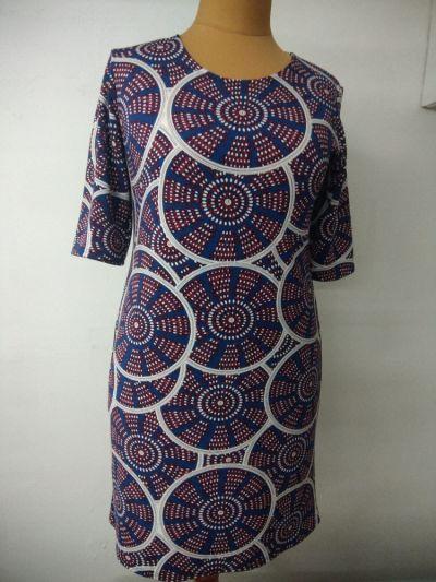 Suknie i sukienki sukienka koła z lekkiej dzianiny rozmiar 48 i 50