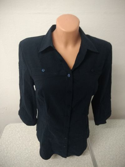 Bluzki bluzka koszulowa granatowa rozmiar 48