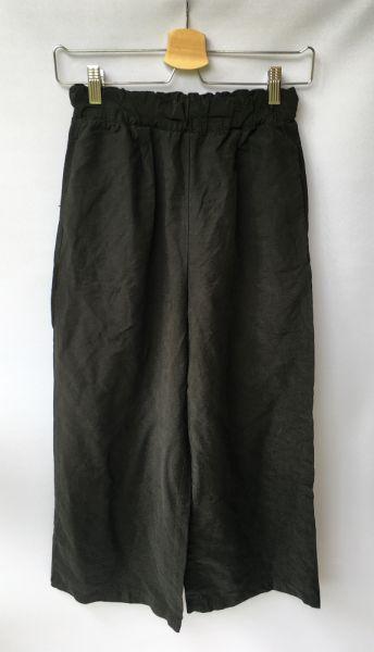 Spodnie Spodnie Czarne Pull&Bear S 36 Proste Nogawki Długość 7 8