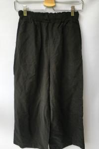 Spodnie Czarne Pull&Bear S 36 Proste Nogawki Długość 7 8...