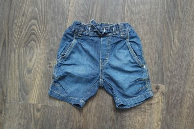 Spodnie i spodenki Dzinsowe spodenki chłopięce krótkie 86