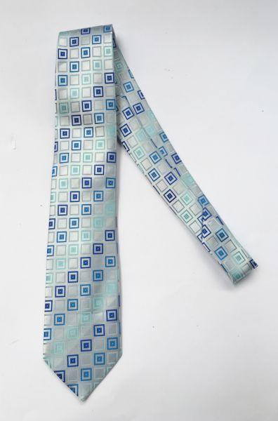 Krawaty i muchy Krawat Męski Wzory Niebieski NOWY Sorriso Wzorki Kwadraty