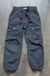 Spodnie bojówki bawełniane ciepłe 110