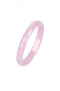 Nowy pierścionek ceramiczny obrączka jasny róż różowa modernist...