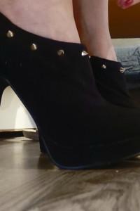Botki new Look 35 czarne buty na obcasie