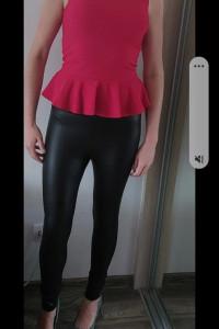 Bluzka z baskinka bluzeczka czerwona z falbanką S...