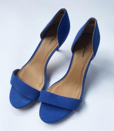 Szpilki Sandały Szpilki Kobaltowe Etam 39 Niebieskie 26 cm
