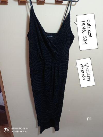 Suknie i sukienki Sukienka xxxl elegancka błyszcząca dłuższy tył