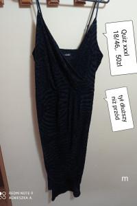 Sukienka xxxl elegancka błyszcząca dłuższy tył