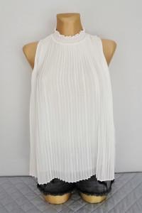 New Look biała plisowana bluzka...