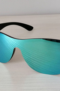 Przeciwsłoneczne lustrzane okulary Niebieskie nowe