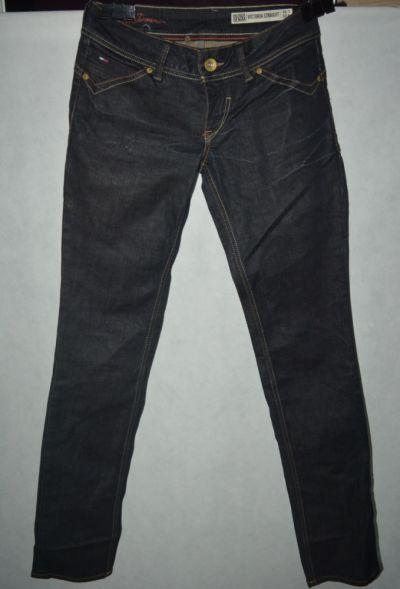 Spodnie f Woskowane jeansy Tommy Hilfiger W26 L34