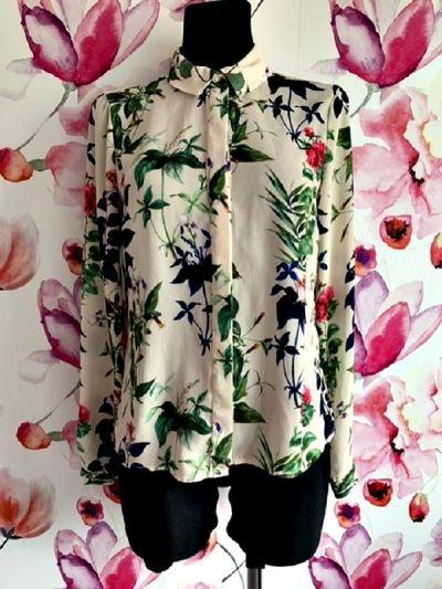 Koszule vero moda koszula modny wzór kwiaty floral jak nowa hit 36
