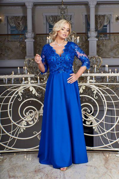 Suknie i sukienki Sukienka Crystal rozmiar 44 52 54 chabrowa