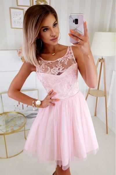 Suknie i sukienki sukienka 2207 kolory 34 36 38 40 koronka tiul