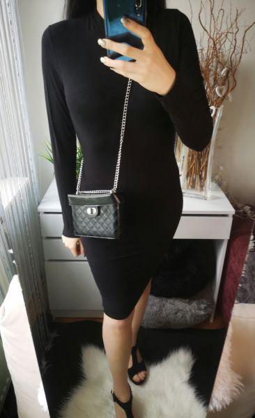 Suknie i sukienki New Yorker Sukienka damska z półgolfem czarna L