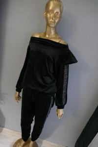 My Vogue premium komplet dres owy welur falbana cyrkonie M L...