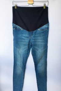 Spodnie Tregginsy Rurki H&M Mama Super Skinny L 40 Diznsy...