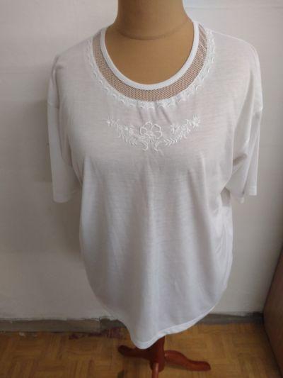 Bluzki biała bluzka z krótkim rękawem rozmiar XL