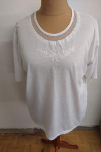 biała bluzka z krótkim rękawem rozmiar XL...